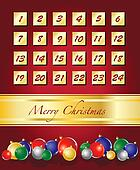 Advent Calendar with baubles