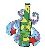 beer bottle illustration