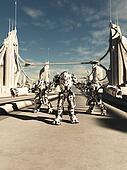 Alien Battle Robots