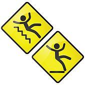 Slippery sign