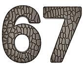 Alligator skin font 6 7 digits