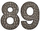 Alligator skin font 8 9 digits