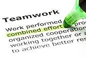 'Combined effort' highlighted, under 'Teamwork'