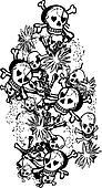 Vector skull grunge heraldry
