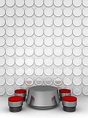 Conceptual modern interior restaurant