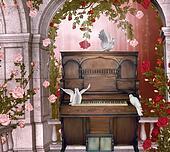 concert in a rose pavillion