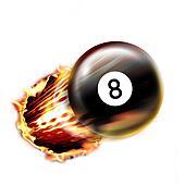 Pool ball shot