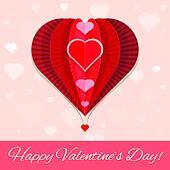 abstract heart air ballon valentine