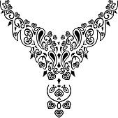 Necklace Clip Art - Royalty Free - GoGraph