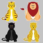 Felidae Family Sticker