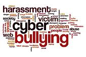 Cyber bullying word cloud