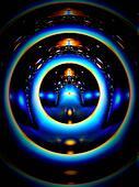 blue rings of light