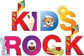 The word kids rock