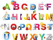 Complete childrens alphabet