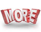 More 3D Word Increase Improve Larger Bigger Demand