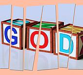 God Letters Show Spirituality Religion And Believers