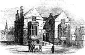 Harrow school vintage engraving