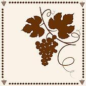 Garden grape vines frame.