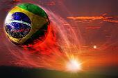 Brasil ball in galaxy, world cup 2014