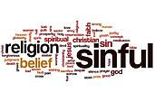 Sinful word cloud