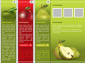 Fresh fruit themed webpage template