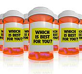 Many Prescription Bottles - Which Medicine is Best
