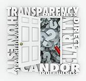 Transparency Door Openness Clarity Candor Straightforward