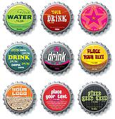 bottle caps 2 - vector set.