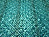 Turquoise Alligator stitched skin