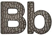 Alligator skin font B lowercase and capital letters
