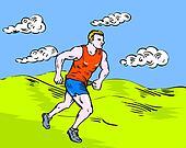jogger marathon runner running race