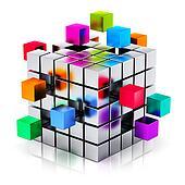 Business teamwork, internet and communication concept