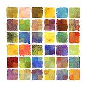 Colorful paint square background on