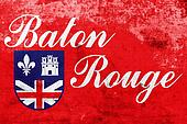 Flag of Baton Rouge, Louisiana, with a vintage and old look