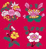 artistic flower plant pattern