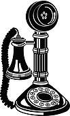 Antique Telephone Or Phone Clip Art