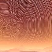 Beautiful star trail image during at night in desert