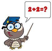 Professor Owl Cartoon Character
