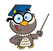 Professor Owl Holding A Pointer