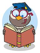 Owl Teacher Cartoon Character