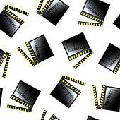 movie cinema clapboard pattern