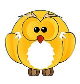 owl yellow color sign