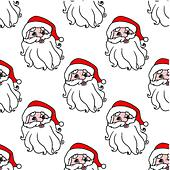 Funny Santa seamless pattern background