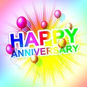 Happy Anniversary Represents Cheerful Greeting And Celebrate
