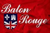 Waving Flag of Baton Rouge, Louisiana