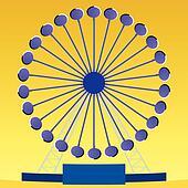 Optical illusion Ferris wheel