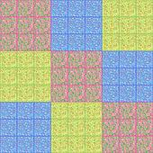 Colorful abstract quilt design