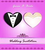wedding card in the form of