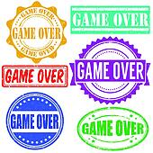 Game over stamps set