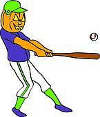 Pumpkin Baseball Player